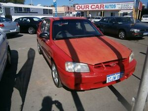 2000 Hyundai Accent 5 DOOR #3705 Red 5 Speed Manual Hatchback Maddington Gosnells Area Preview