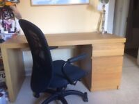 Desk and chair £50