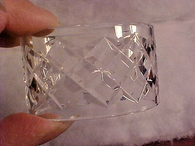 4 Waterford Crystal Oval Dinner Napkin Rings Alana Comeragh old mark IRELAND