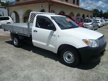 2008 Toyota Hilux TGN16R 08 Upgrade Workmate White 5 Speed Manual Cab Chassis South Nowra Nowra-Bomaderry Preview