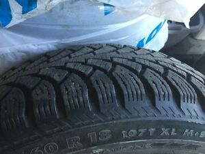 LIKE NEW NOKIAN HAKKAPELLITA SUV WINTER TIRES 235/60R18