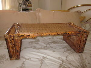 Vintage Rattan é Bamboo Bed tray