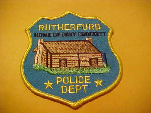 RUTHERFORD TENNESSEE POLICE PATCH SHOULDER SIZE UNUSED