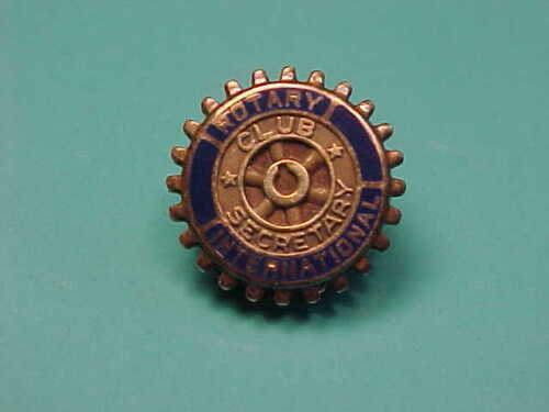 intage Solid 10k Gold Rotary International Club Secretary Pin Fraternal Jewelry