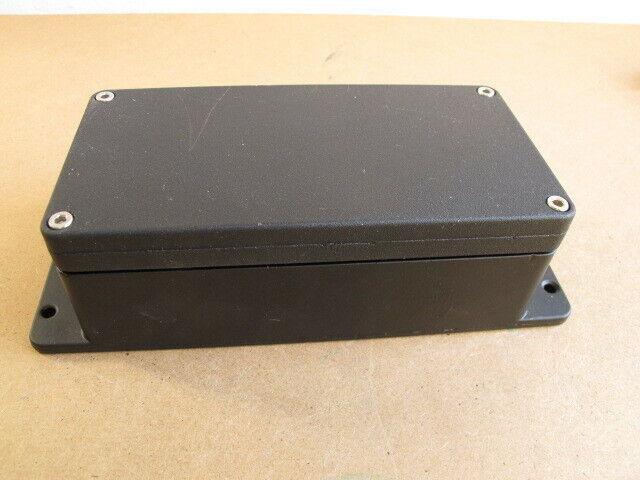 """Black Die Cut Aluminum Weatherproof Enclosure - 6.25"""" X 3.13"""" X 2.25"""" - Flanged"""