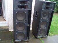CARLSBRO 300 WATT SPEAKERS - BIG SOUND- BIG SPEAKERS