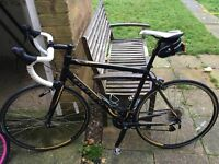 Carrera 14 speed road bike and shoes