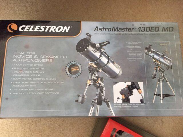 Celestron astromaster 130eq motor drive telescope in