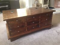 Laura Ashley Garrat Chestnut Box Coffee Table - Great for storage and good condition