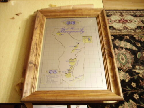 RARE B & G BARTON & GUESTIER FRENCH WHITE WINES FRAMED BEER MIRROR SIGN - NEW