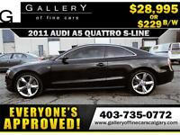 2011 Audi A5 S-LINE QUATTRO $229 bi-weekly APPLY NOW DRIVE NOW