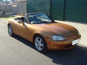 1999 Mazda MX-5 NB30P1 Gold 5 Speed Manual Softtop Hampstead Gardens Port Adelaide Area Preview