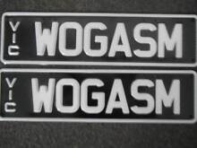 """WOGASM"" Personalized Number Plates Elwood Port Phillip Preview"