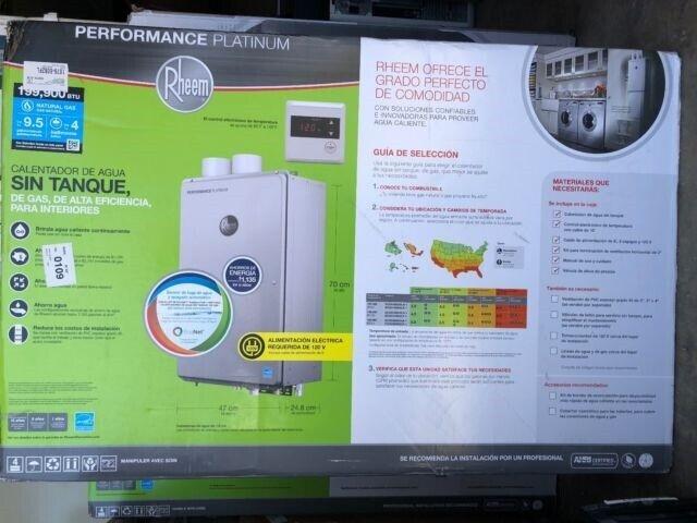 New Rheem ECOH200DVLN-2 Platinum 9.5GPM Natural Gas Indoor T