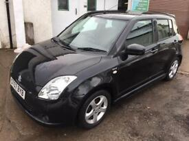 2007 SUZUKI SWIFT VVTS GLX 5 DOOR HATCHBACK PETROL MANUAL IN BLACK