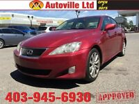 2007 Lexus IS 250 AWD leather roof navi back up cam