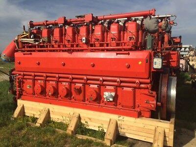 Waukesha Model 8lat27gl Natural Gas Engine Sn C-8039301