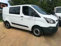 WV16EOL Ford Transit Custom T290 2.2TDCi DCIV 6 SEAT CREW VAN SWB 100PS