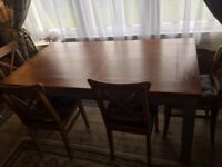 Kitchen Dining Table with 4 IKEA Ingolf chairs