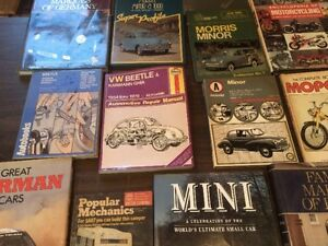 Vintage Books (cars and motorcycles)