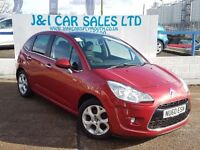 CITROEN C3 1.6 EXCLUSIVE HDI 5d 90 BHP A LOW PRICED DIESEL 5D (red) 2010