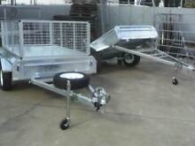 7x5 Hot Dip Galv Trailer With Cage & Spare Wheel Maryborough Fraser Coast Preview