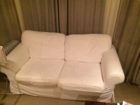 IKEA two person white sofa near new condition 20GBP - must go in next 4 days!!