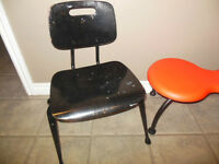 Small black wood chair, great for children