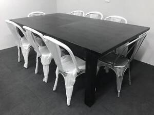 Solid Timber Pavilion Dining Table + 8 Chairs / As New Ryde Ryde Area Preview