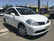 2009 Nissan Tiida C11 MY07 ST White 4 Speed Automatic Hatchback Cambridge Park Penrith Area Preview