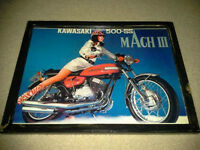 Kawasaki 500-SS Mach III - Mounted pic, ready to display