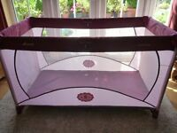 Pink Hauck Travel Cot