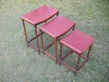 Wooden Side Tables $45 set of three Albion Brisbane North East Preview