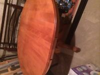Antique dining table with 4 chairs