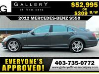 2012 Mercedes S550 4Matic $309 bi-weekly APPLY NOW DRIVE NOW