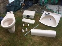 Bathroom sanitaryware. Full set. Armitage Shanks Pale champagne colour. Very good condition