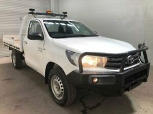 2015 Toyota Hilux GUN126R SR (4x4) Glacier White 6 Speed Automatic Cab Chassis Bohle Townsville City Preview
