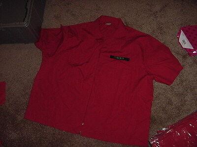 Vintage Nwt Mens Uniform 7 Eleven 4Xl Unisex Red Zipper Short Sleeve Shirt 80S