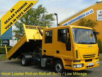 Iveco Eurocargo 7.5t D/Cab Hookloader Roll-on Roll-off body 2008/ 58