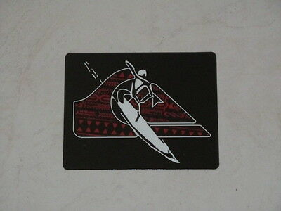 Quicksilver red x 3 1 2 rectangular surf sticker