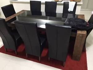 Dinning Table and Buffet  Zuma 10 piece package Westmead Parramatta Area Preview