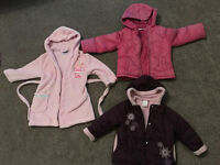 18-24 mths girls bundle: 2 x Girls Coats and Peppa Pig Dressing gown (Age 1.5-2 yrs)