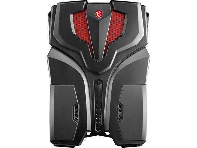 MSI VR One Backpack Desktop Intel Core i7-7820HK 16GB Memory NVIDIA GeForce GTX 1070 512GB Solid State Drive Black VR ONE 7RE-065US