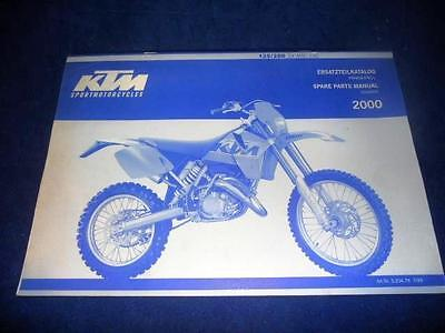 KTM Spare Parts Manual Chassis 2000 125 200 SX MXC EXC