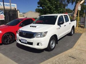 2011 Toyota Hilux KUN16R MY11 Upgrade SR Glacier White 5 Speed Manual Dual Cab Pick-up Beckenham Gosnells Area Preview