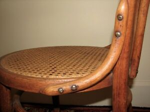 Antique Bentwood Bistro Chair, Woven Cane Seat, Cafe-Style Kitchener / Waterloo Kitchener Area image 10
