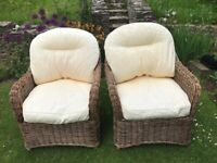 Pair of Angraves rattan chairs