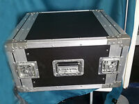 "Heavy Duty 6U 19"" Rack Flight Case"