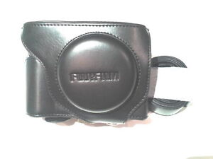 BLACK-Camera-Leather-Compact-Case-Bag-For-Fujifilm-Series-X70-STRAP