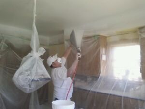 Painting and water damage repairs, ceiling repairs, sub contract